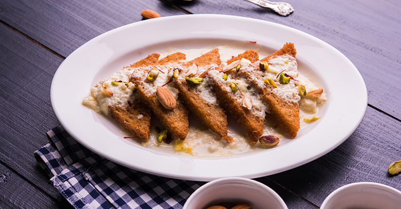 Shahi Tukda With Apricot Sheera Recipe